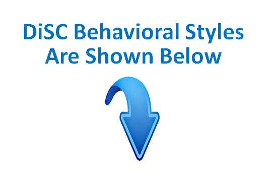 DiSC Behavioral Styles - Down Arrow