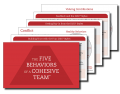 Five Behaviors of a Cohesive Team Take Away Cards